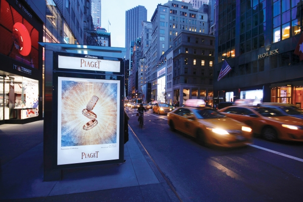 JCD USA Piaget Bus shelter