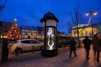 Column outdoor advertising